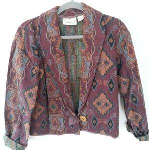Vintage Aztec Tapestry Jacket / L